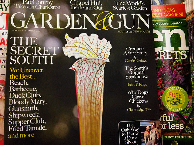 For their tribulations Charlestons Garden Gun magazine earns a